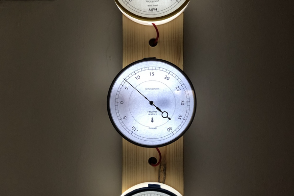 Climate Gauges - Mounted on Wood