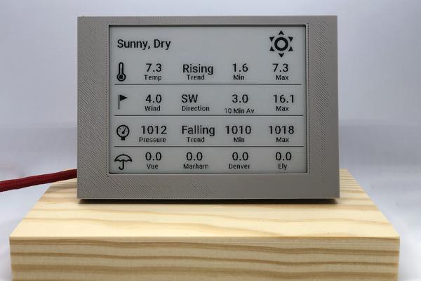 eink weather display